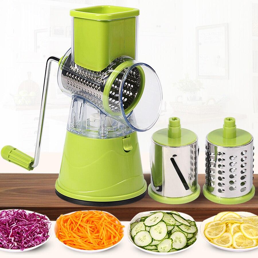 Manual Vegetable Cutter Slicer Kitchen Accessories Multifunctional Round Mandoline Slicer Potato Cheese Kitchen Tools Gadgets