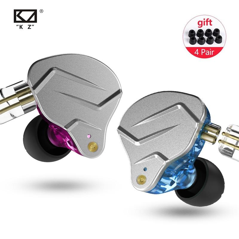 Nieuwe Kz Zsn Pro 1BA + 1DD Hybrid In Ear Oortelefoon Hifi Monitor Running Sport Oortelefoon Headset Oordopjes Kz ZS10 zst Kz AS10 AS06 Zsn