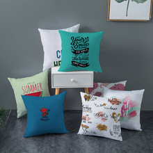 Pillowcase home decoration home textile pillow modern simple letter watercolor printing cushion cover household items fur pillow