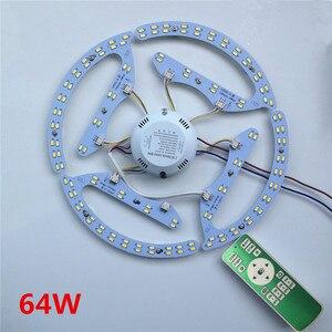 Image 2 - Yeni 48W 64W 80W AC180 265V yuvarlak manyetik LED tavan ışık LED kurulu paneli dairesel tüp ışıklar ile 2.4g uzaktan kumanda bellek