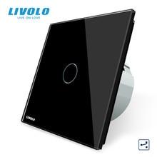 Livolo EU Standard commutateur sans fil 1 Gang 2 voies, AC 220 ~ 250 V, avec fonction à distance, C701SR 1/2/3/5, pas de télécommande