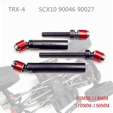 CVD Metal Universal Drive Shaft Transmission 110-158mm 90-118mm for Axial SCX10 RC4WD D90 TRX-4 RC Crawler Car Part Accessories