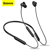 Baseus fone de ouvido apoiável no pescoço s12  fone auricular wireless com bluetooth 5.0  headset com microfone