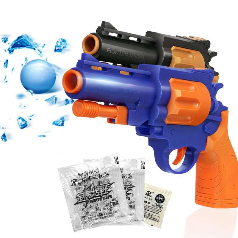 Mini Gun Dual-water Bullet Guns Toy Left-wheel Water Bullet Gun Soft Bomb Model Pistol Children's Toy Boys Xmas Gift 6815