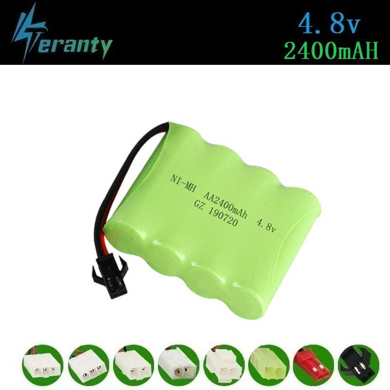 ( M Model ) 4.8v 2400mah NiMH Battery For Rc toys Cars Tanks Robots Boats Guns 4.8v Rechargeable Battery 4*AA Battery Pack 1Pcs