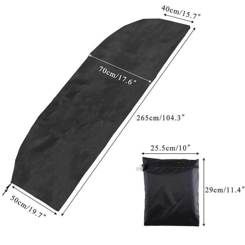 200-280 سنتيمتر مظلة فناء في الهواء الطلق مقاوم للماء الغطاء الواقي مع سستة لحديقة ناتئ المظلة المظلات