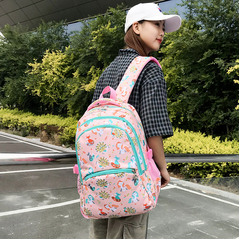2019 New Style School Bag Primary School STUDENT'S Girls Backpack GIRL'S Oxford Lightweight Backpack