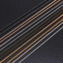 5 10 м/лот серебро/золото/бронза цвет покрытием ожерелье цепи латунь оптом для DIY ювелирных изделий материалы изготовления ручной работы поставки