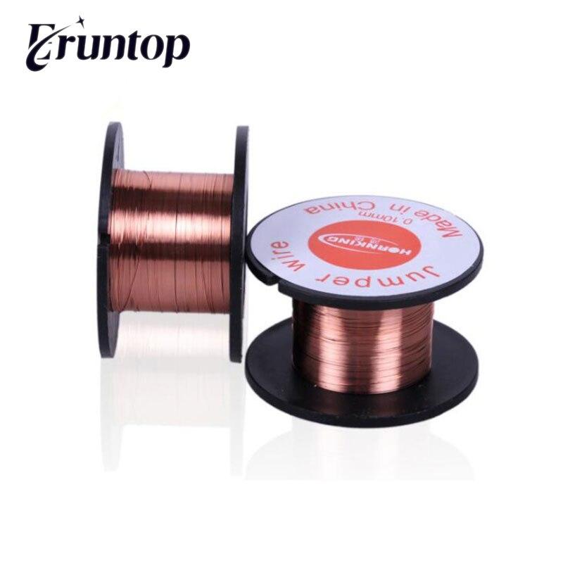 2 pces 0.1mm cobre solda ppa esmaltado carretel fio jumper