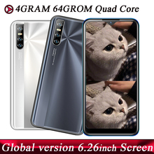 Face ID Android 13MP 9C Smartphones Quad Core Original 4G RAM 64G ROM 2sim Mobile Phones Unlocked 6.26