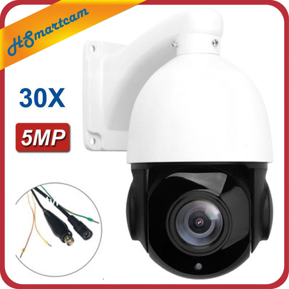 4.5 ''30X ZOOM AHD TVI 1080P Sony 323 2.0 MP 5MP CVI PTZ vitesse dôme IR caméra nuit extérieur CMOS AUTO