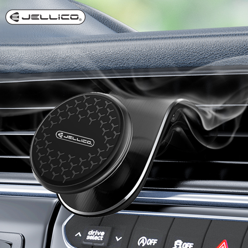 Jellico Metal Magnetic Car Phone Holder IPhone Samsung Xiaomi Huawei Car 360 Air Vent Magnet Stand In Car GPS Mount Holder