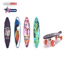 ChromeWheels Children Graffiti Printed Skateboard Complete Longboard Double Kick Skate Board Cruiser 8 Layer Maple Deck for Extr недорого
