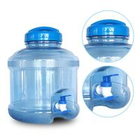 Portable Water Bottle Dispenser With Cover And Dispensing Faucet For Outdoors Camping 11.3L Plastic Water Storage Bucket