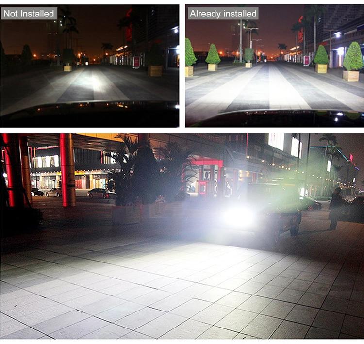 2 шт. 18 Вт 27 Вт 48 Вт Светодиодный светильник 12 в 24 В Мотоцикл Внедорожный 4x4 ATV точечный прожектор дневные ходовые огни Предупреждение ющий рабочий точечный светильник
