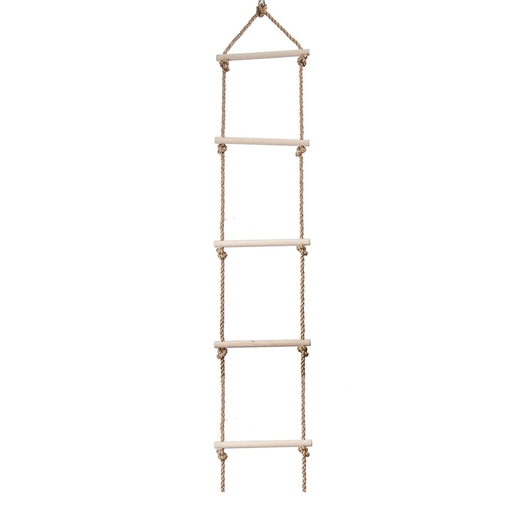 Outdoor Indoor Rope Ladder With 6 Wooden Rungs Rope Ladder Climbing Ladder Swing Toys For Chhildren Sport Gift
