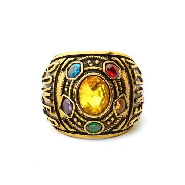 Charme antigo Vingador 3 Infinito Guerra Thanos Jóias Infinito Desafio Infinito Anel de Cristal dos homens de Pedra