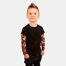 Детская футболка для маленьких мальчиков с сеткой, футболка с цветочным принтом и длинными рукавами детская футболка в стиле хип-хоп Рок Топ для малышей
