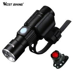WEST BIKING, велосипедный светильник, ультра-яркий, масштабируемый, 240 люмен, Q5, 200 м, USB, перезаряжаемый, велосипедный светильник, велосипедный пер...