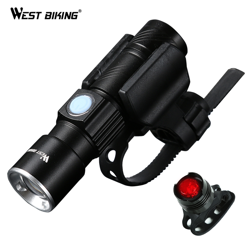 Rechargeable USB Cycling LED Night Lamp Bicycle Torch Bike 200M Head Front Light