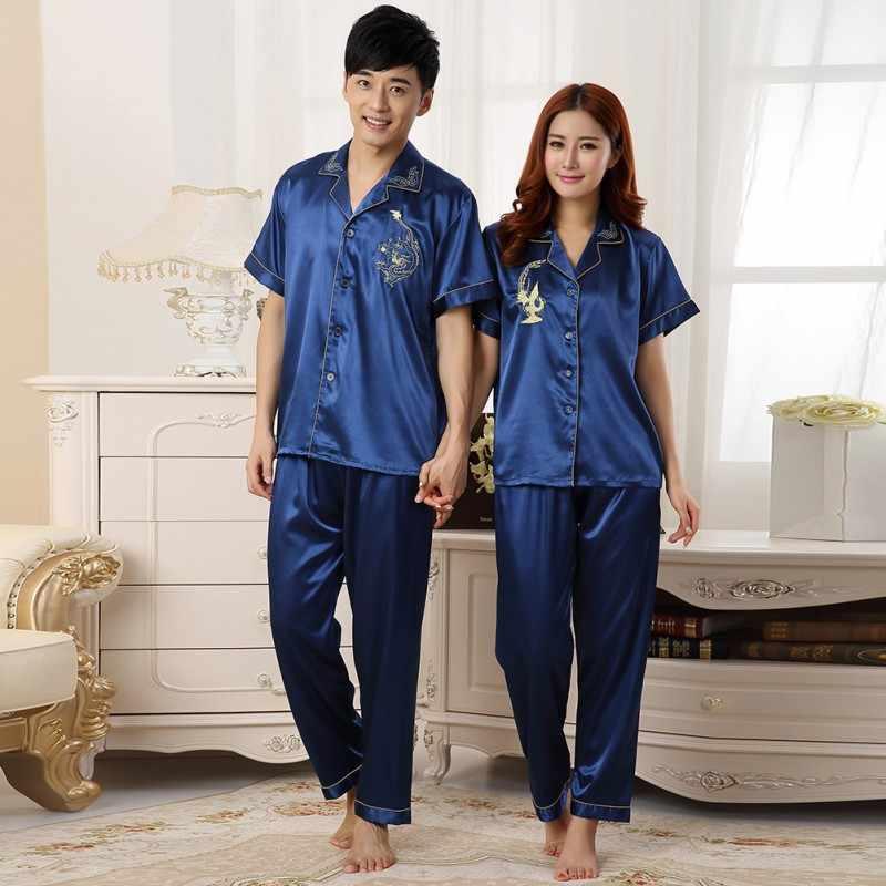 Plus Size Nữ Lụa Satin Bộ Đồ Ngủ Pyjamas Bộ Tay Dài Đồ Ngủ Pijama Bộ Đồ Ngủ Phù Hợp Với Nữ Ngủ Hai Bộ Loungewear