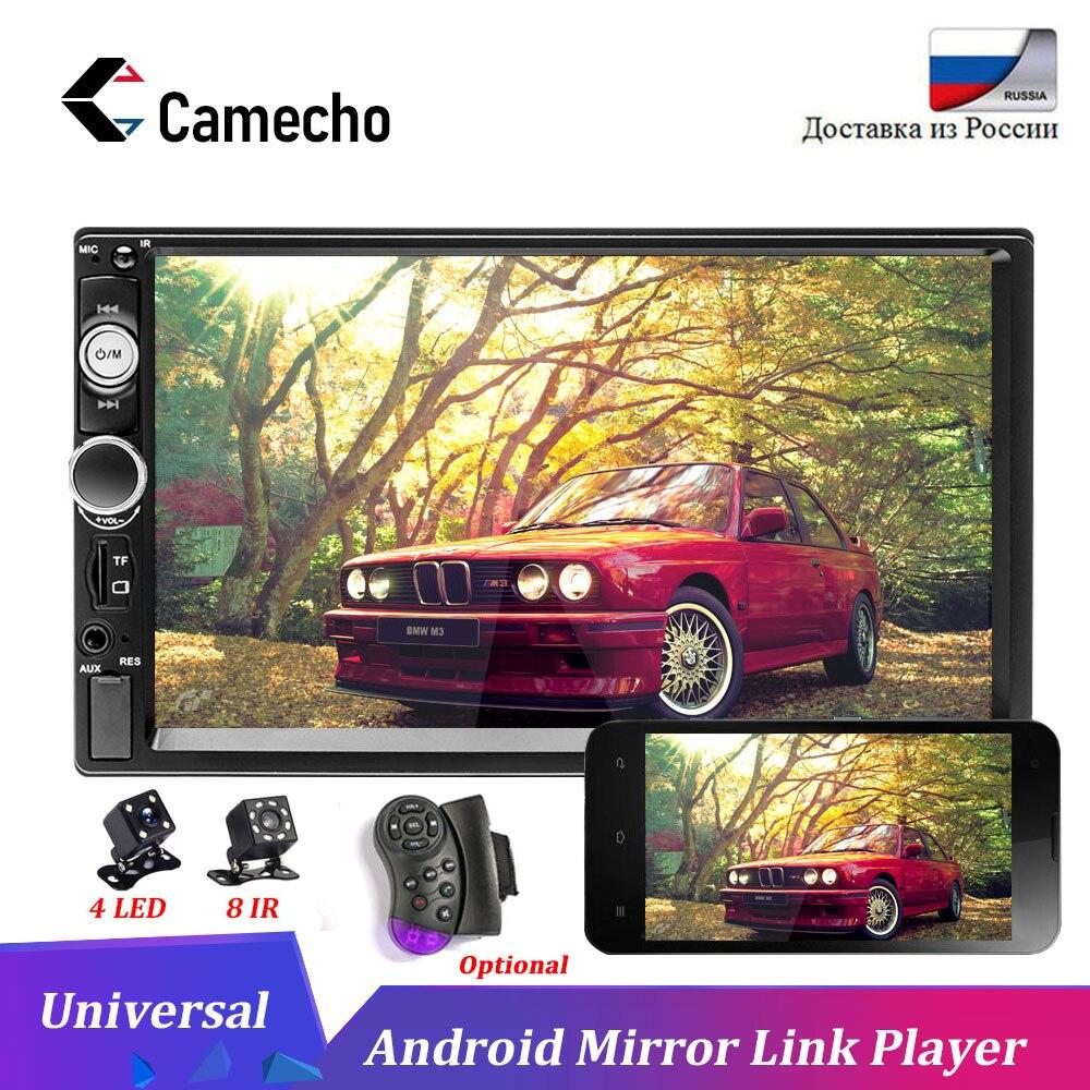 Topbox 2 Din Car Radio 7 Bluetooth Estéreo auriculares Bluetooth reproductor Multimedia Autoradio MP3 MP5 pantalla táctil de Radio trasero cámara de vista
