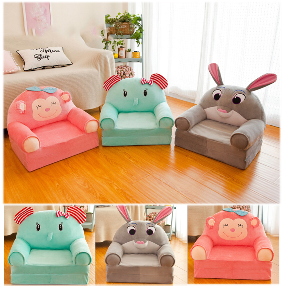 Cartoon Crown Seat Children Chair Neat Toddler Children Cover For Sofa Best Gifts Appease Baby Kids Only Cover NO Filling