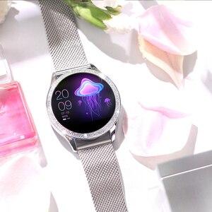 Image 4 - Femmes montre intelligente fréquence cardiaque IP68 étanche podomètre Bluetooth montre rappel dappel Fitness Tracker femme Smartwatch Android