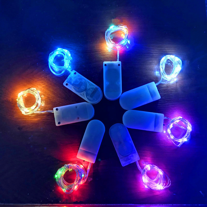 Fairy 1M 2M Battery Operated LED Copper Wire String Lights for Wedding Christmas Garland Festival Party Home Decoration Lamp