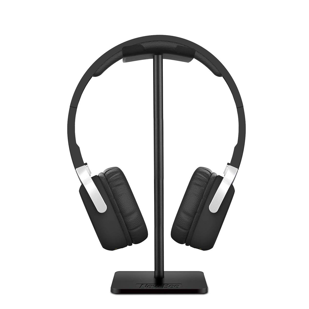 Headset Stand Holder With Aluminum Supporting Bar Flexible Headrest ABS Solid Base For Bose QC25 QC15 QC35 700 NC700 Headphones
