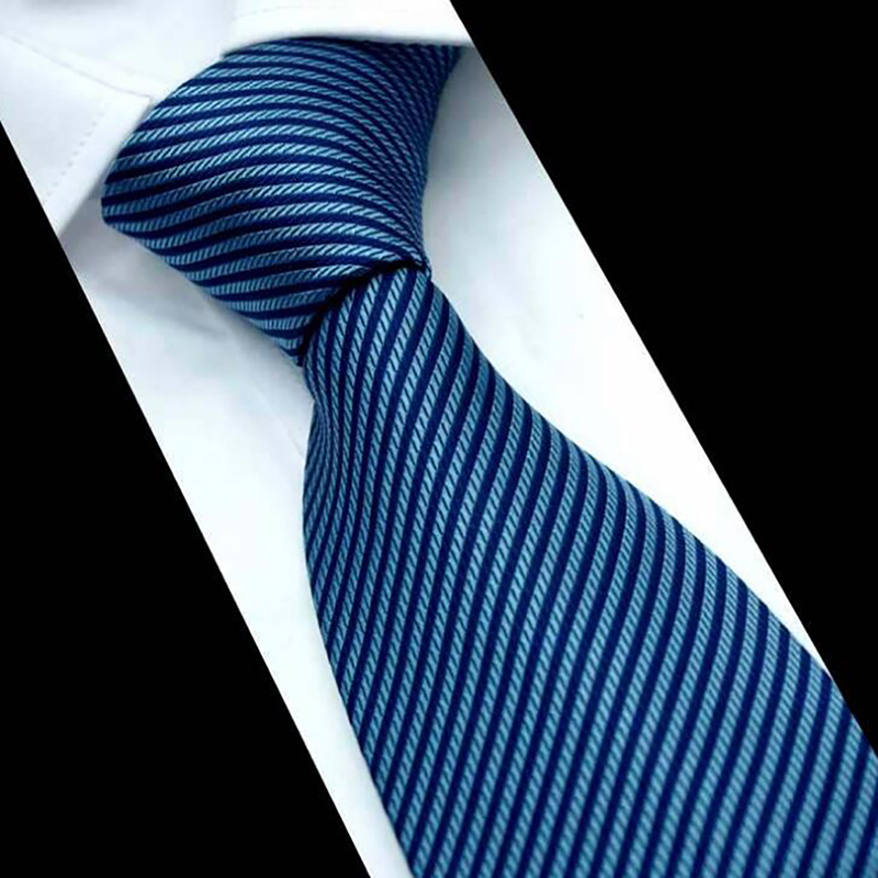 GAOKE Business Ties For Men Dot Neckties Vintage Striped Neck Ties Polyester 7 Cm Gravata Wedding Corbatas Party Gifts