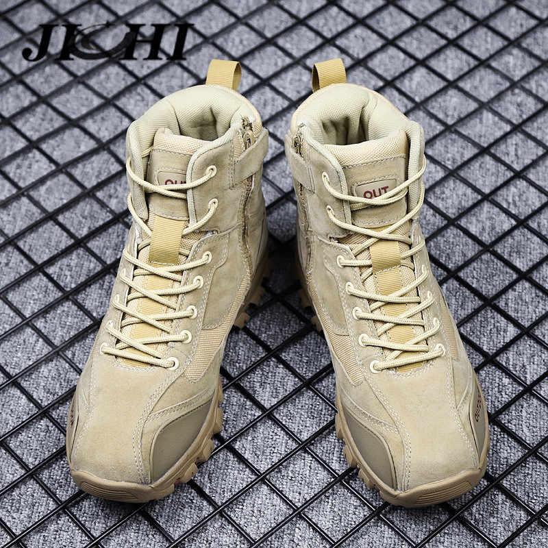 Stivali Da uomo di Marca Degli Uomini di Combattimento Scarpe Outdoor antiscivolo Uomini Stivali Militari Scarpe Da Tennis Degli Uomini di Inverno Degli Uomini Classici Scarpe di Sicurezza mans Calzature