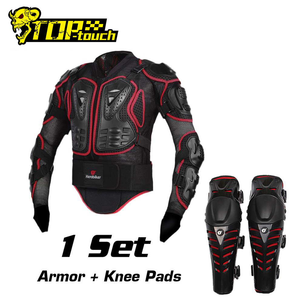 KKmoon Motorcycle Protection Jacket Pro Motocross ATV Protector Jacket with Back Protector Scooter MTB Enduro for Men and Women Black M