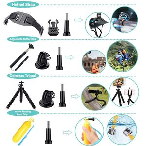 Image 4 - FULL 50 in 1 Action Camera Accessories Kit for GoPro Hero 2018 GoPro Hero6 5 4 3 Carrying Case/Chest Strap/Octopus Tripod
