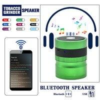 Premium Powered Bluetooth Bookshelf Speakers Herb Grinder Pollen Catcher 62MM Diamond Shaped Teeth Tobacco Grinder