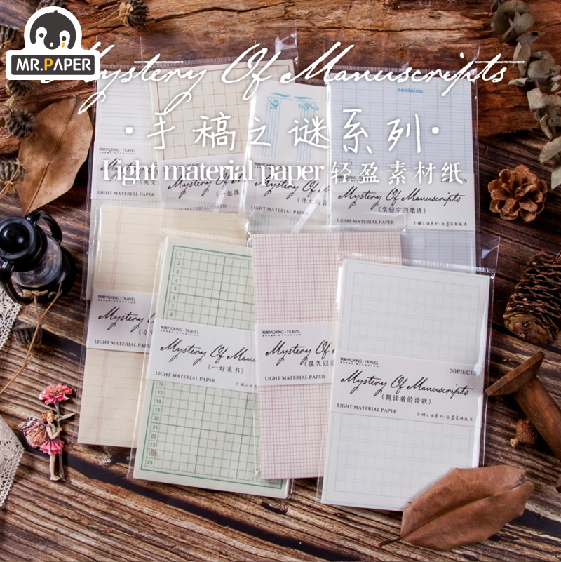 Mr.paper 10 Designs Antique Medieval Record Letter Scrapbooking/Card Making/Journaling Project DIY R