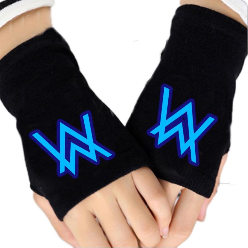 Allen Walker Half Finger Warms Fingerless  Gloves Hand Warmer Winter Knitting Faux Wrist FGO Cosplay Gloves