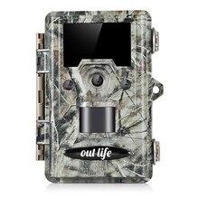 Outlife охотничья камера HD 1080P 12MP IP67 водонепроницаемая камера слежения s мониторинг ловушек дикой природы с двойной камерой s ЖК-дисплей