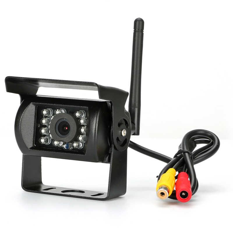 """Jansite 7 """"Wireless Monitor Dell'automobile Camion Videocamera vista posteriore 12-24V di Visione Notturna monitor per il backup della macchina fotografica Bus RV Harvester 4 Telecamere"""