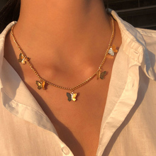 Vintage Multilayer Pendant Butterfly Necklace for Women Butterflies Moon Star Charm Choker Necklaces Boho Fashion Jewelry Gift cheap Zinc Alloy CN(Origin) Chains Necklaces All Compatible Bohemia Party Mood Tracker O-chain 1 5*1 1cm 7712 Metal Bowknot