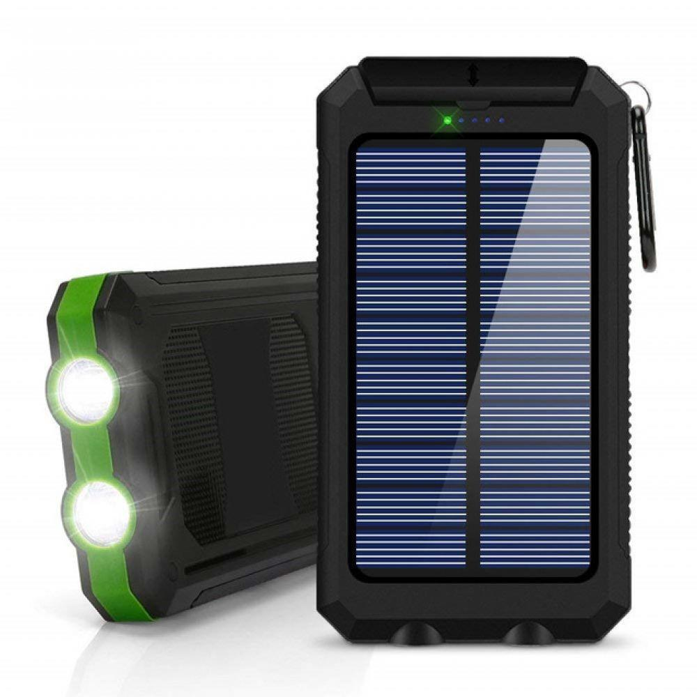 20000mAh High-Capacity Solar Power Bank with Polycrystalline Solar Panel and Dual LED Light 7