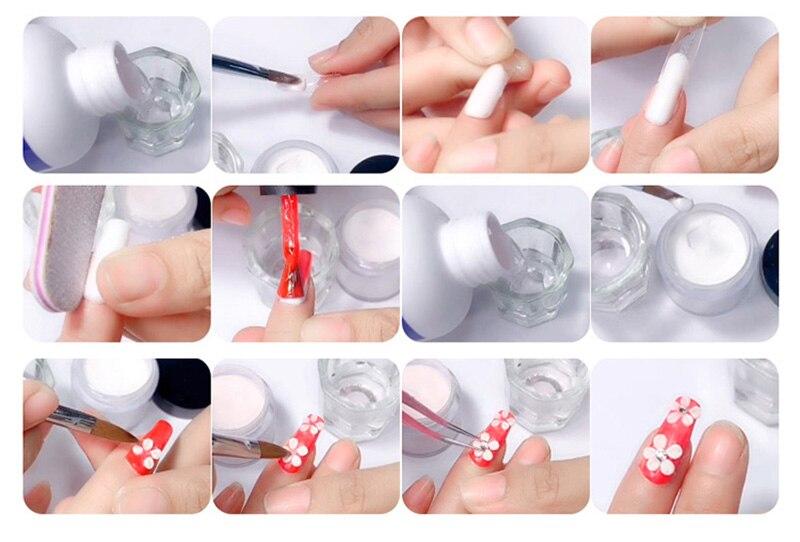 kit para manicure design extensão unhas
