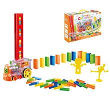 Toys Domino-Train Educational-Toys Gift Plastic Car Vehicle-Model Set-Up Electric Magical