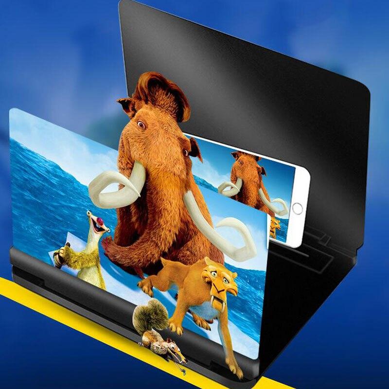 Polegada, lente hd para celular, tela de aumento e projeção