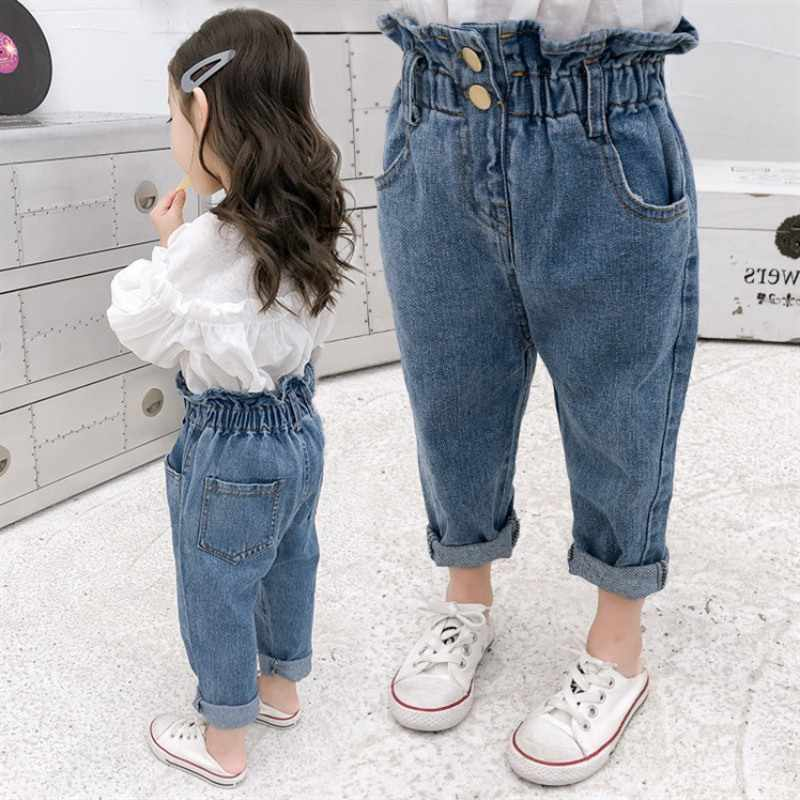 Pantalones Vaqueros De Cintura Elastica Para Ninos Y Ninas Pantalones Vaqueros Informales Azules Modernos Para Verano Y Otono Pantalones Vaqueros Aliexpress