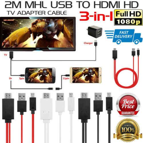 2M MHL Micro USB untuk HDMI 1080P HD TV Kabel Adaptor untuk Universal Ponsel Android 2019 Baru