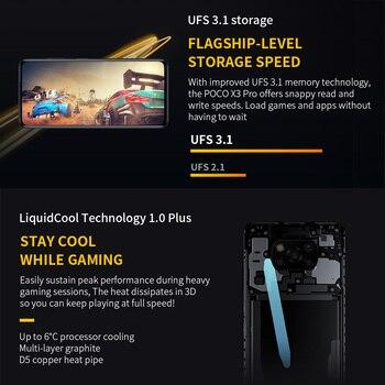 POCO X3 Pro 6GB+128GB/8GB+256GB Xiaomi Smartphone Snapdragon 860 120Hz DotDisplay 5160mAh 33W Charge Quad AI Camera 4