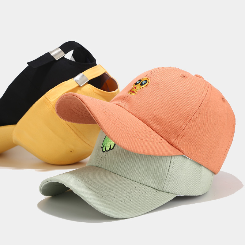 Hat Women New Creative Cartoon Embroidery Baseball Caps Female Korean Japanese Small Fresh Cap Student Couple Hat Men Snapback
