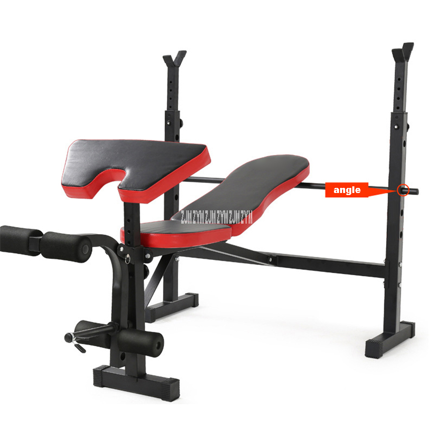 Barbell Rack Weightlifting Bed Multifunctional Weight Bench Folding Bench Press Squat Barbell Lifting Training Bench Bracket