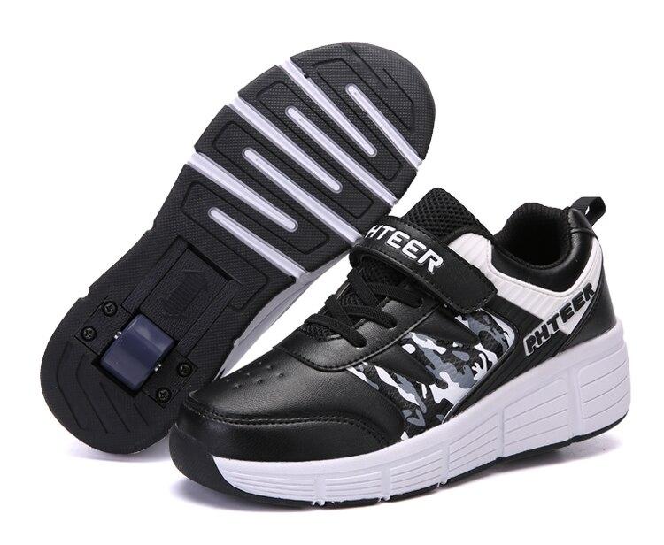 EUR 31-42 enfants Junior patin à roulettes chaussures enfants baskets avec une/deux heelies garçons filles roues chaussures adulte décontracté garçons chaussures